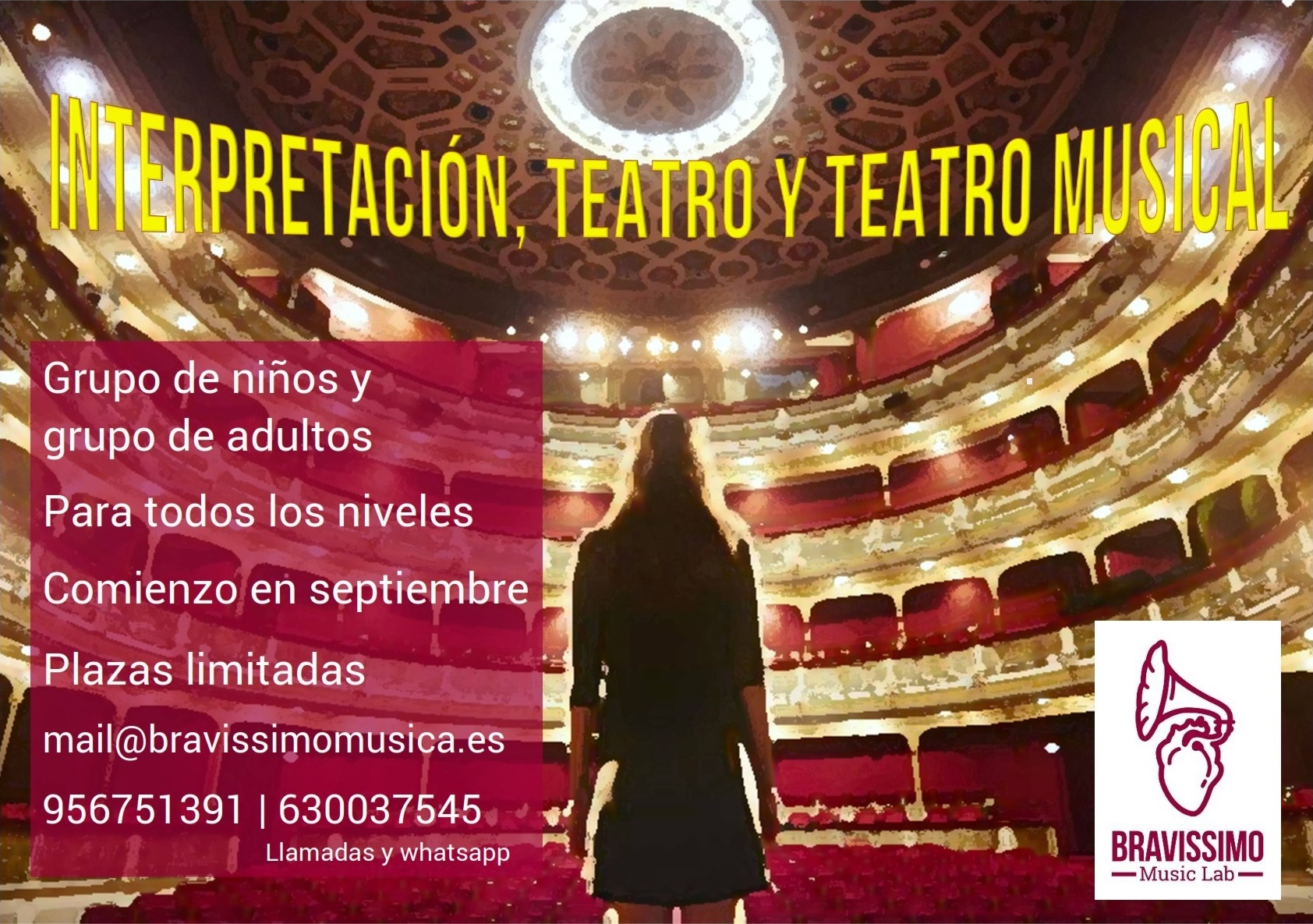 Interpretacion, Teatro y Teatro Musical Bravissimo Music Lab